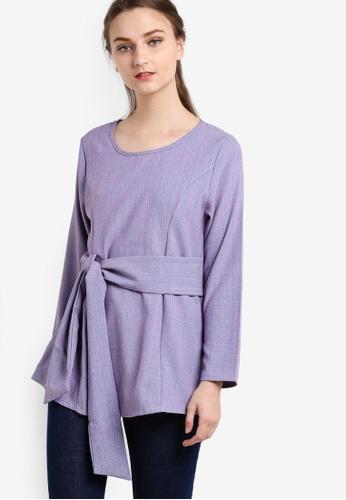 BYN purple Muslimah Blouse BY059AA73GCWMY_1