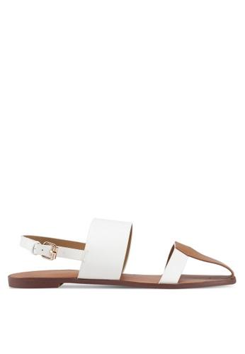 Something Borrowed white Contrast Sandals 4020ESH80C39B2GS_1