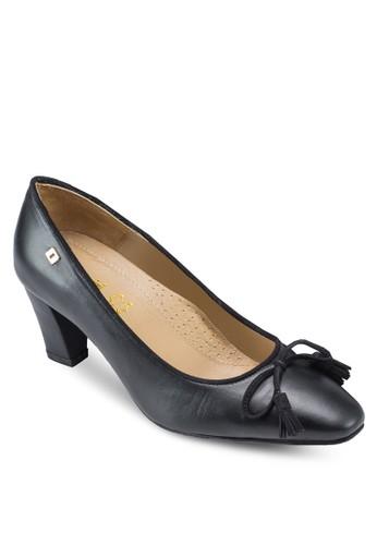 Chaesprit outlet 香港rlotte 2 蝴蝶結尖頭粗跟鞋, 韓系時尚, 梳妝