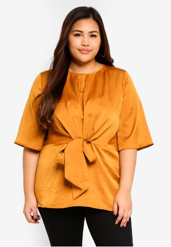 ELVI yellow Plus Size Lyra Shell Top 85B1EAAFC6C7D3GS_1