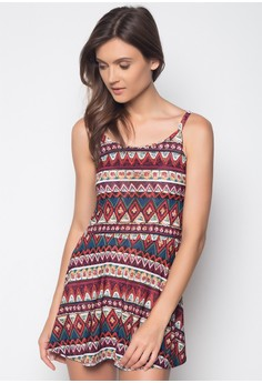 Spaghetti A-line Dress