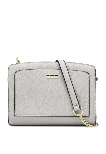 Mel&Co grey Faux Leather Front Pocket Sling Bag A2A56ACEFC6CEBGS_1