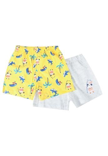 LC Waikiki grey 2-pack Baby Boy's Printed Cotton Shorts 237F0KA9791D48GS_1