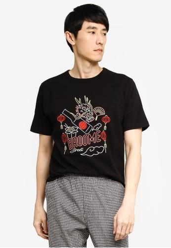GLOBAL WORK black Graphic T-Shirt 2D860AAFF6061EGS_1