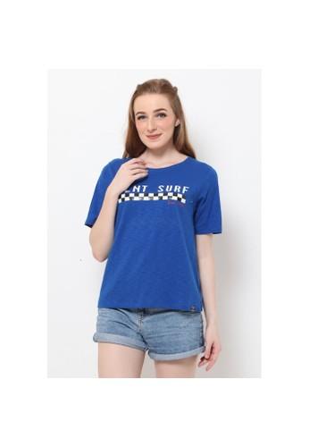 Planet Surf Clothing blue Planet Surf Clothing Kaos Wanita Race T Shirt 193H 20463AA21403FFGS_1