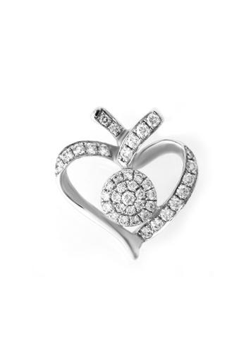 GOLDHEART white GOLDHEART Pulchritudinous Heart with Refulgence Pendant, Diamond White Gold 375 & Palladium (P5184) 7F38BAC6C2A63EGS_1