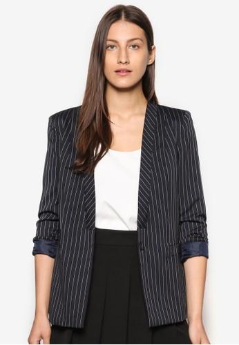 Collection 條紋西裝外套, esprit暢貨中心服飾, 外套