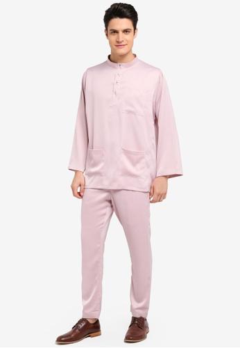 Zalia Homme pink Baju Melayu Co-ordinate 2262CAADF87467GS_1