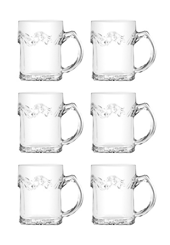 Union Glass n/a Thailand Premium Clear Glass Beer Mug Beer Lovers 355ml -12 oz Set of 6 7DC18HL4342FCFGS_1