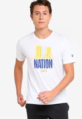Under Armour white Dub Nation Tee BF610AA1E74232GS_1