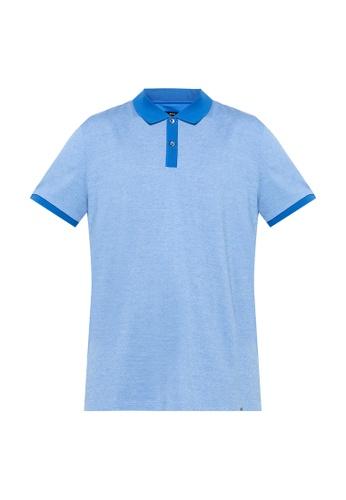 BOSS blue Phillipson Polo Shirt - BOSS Men 3127FAA0E6BEBAGS_1