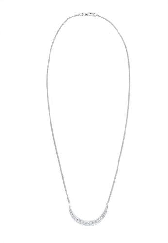Elli Germany silver Elli Germany Half Moon Astro Zirconia Crystals 925 Silver Necklace EL474AC63DPWMY_1
