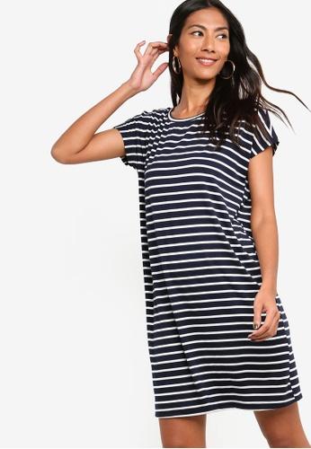 ZALORA BASICS multi and navy Basic Jersey T-Shirt Dress 6C73EAA7233E53GS_1
