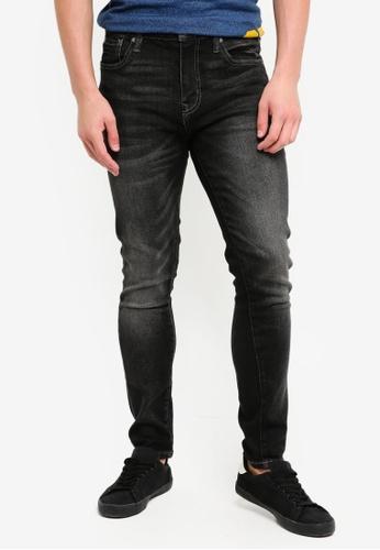 Superdry 黑色 修身牛仔褲 320F9AA8E72BB9GS_1