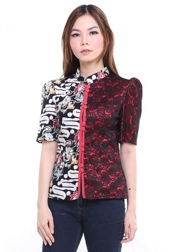 DhieVine Batik black and red Ceplok Parang Blouse 31700AA99D57BDGS_1