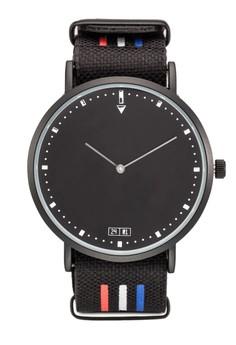 海軍風條紋圓框手錶