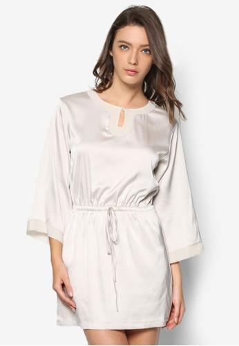 繫帶絲綢連身睡裙esprit 京站, 服飾, 睡衣