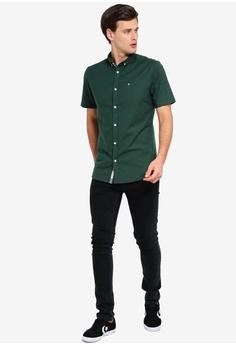 6a572a615438e9 River Island Short Sleeve Oxford Shirt S$ 39.90. Sizes XS S M L XL