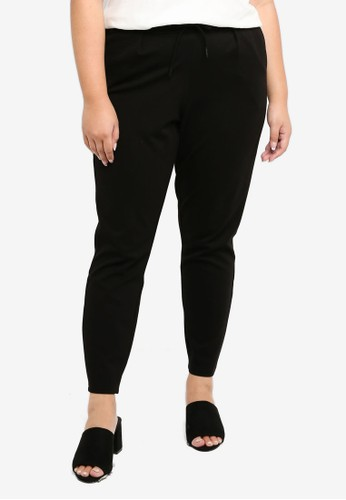 Junarose black Plus Size Ankle Trousers E3E26AAB3913E1GS_1