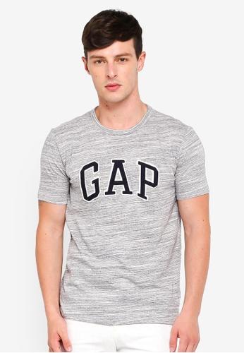 GAP grey Logo Crewneck T-Shirt 28164AAC3166E4GS_1