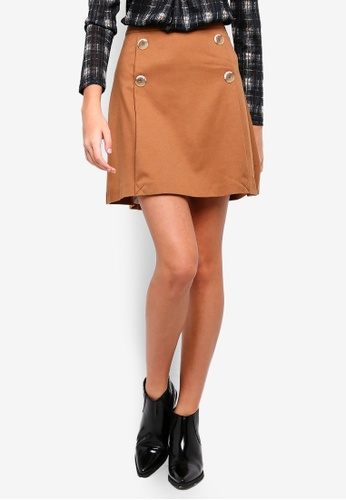 ESPRIT brown Woven Mini Skirt 3E474AA86CB875GS_1