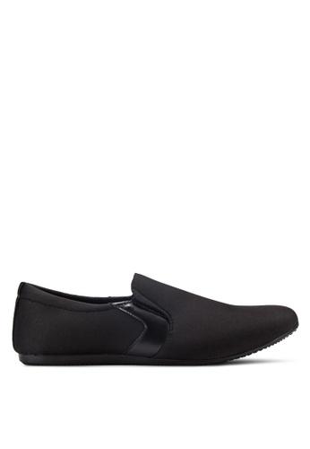UniqTee black Classic Textile Loafers UN097SH75RDKMY_1