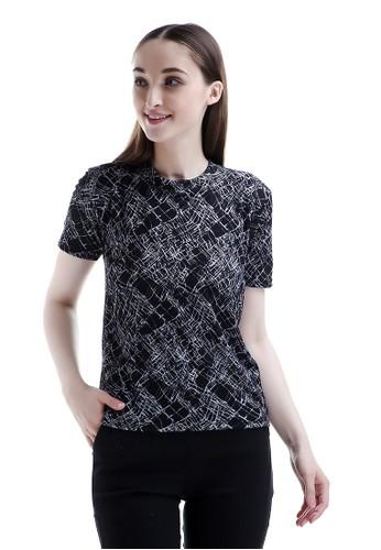 Evernoon black Clover Kaos Lengan Pendek Atasan Wanita Fashionable Design Chic - Hitam 02DA9AA7ADFFBBGS_1