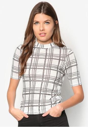Monochrome Checkzalora 衣服評價 Top, 服飾, 上衣
