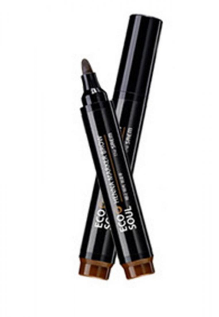 Saem Eco Soul Henna Marker Brow - Dark Brown