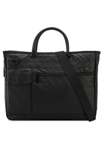 Bagstationz black Premium Nylon 2-Way Laptop Bag 4E977AC5A66A3AGS_1