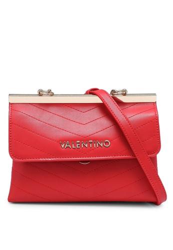 VALENTINO by Mario Valentino red Logo Crossbody Bag 77B8DAC7E14F32GS_1