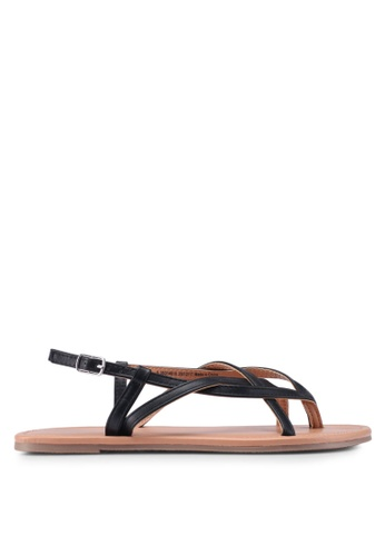 Dorothy Perkins black Widefit Black Follow Sandals 4108CSHE342917GS_1