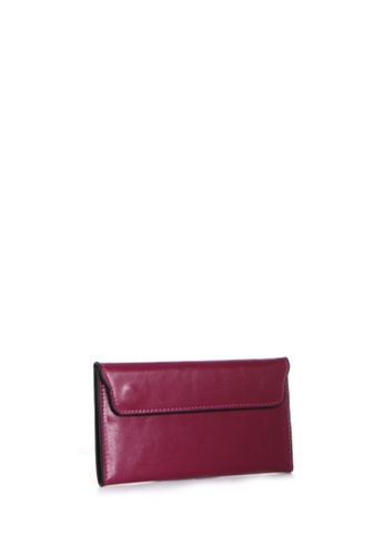 Dazz pink Calf Leather Flap Magnetic Wallet - Pink DA408AC85MRMMY_1