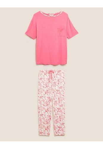 MARKS & SPENCER pink M&S Leopard Print Pyjama Set 018CFAA62F4D92GS_1