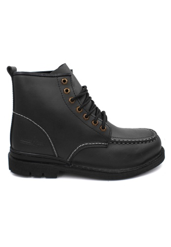 midzone black HAMMER KING Safety Genuine Leather High Cut E8AC6SHEC08D8EGS_1