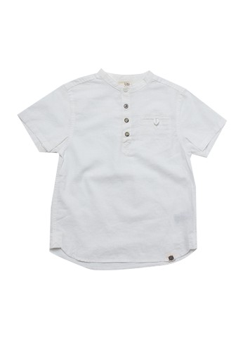 Giordano white Junior Pocket Linen Shirt 29C6EKA8F5F67FGS_1