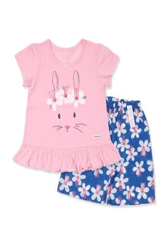 Organic mom pink Organic Cotton  Molly Rabbit Pajamas 658AAKAC76CEC0GS_1