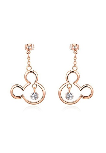 Kings Collection Rose Gold Mickey Shape Earrings 13CA9AC355AA39GS_1