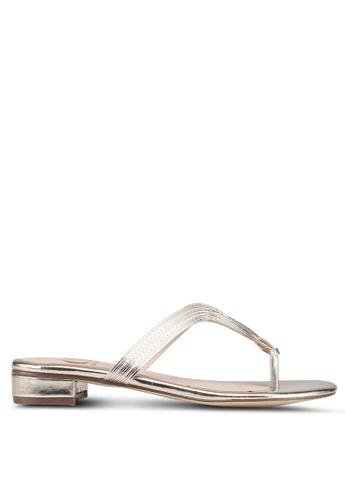 Carlton London 金色 金屬感涼鞋 9C919SHB4573DFGS_1
