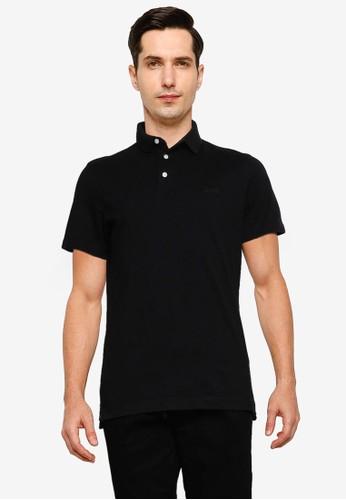 Superdry black Orange Label Jersey Polo 2C9BCAAE2A7EC0GS_1