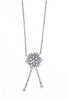 Snowflake Silver Earring and Necklace