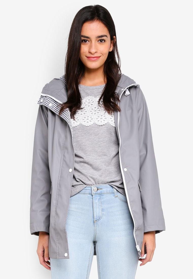 Dorothy Grey Grey Raincoat Front Perkins Button rSfqrg