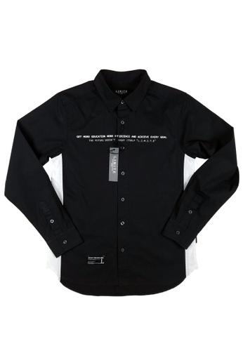 L.I.M.I.T.E black 3M Printed Shirt D8B6DAAA5CC3C7GS_1