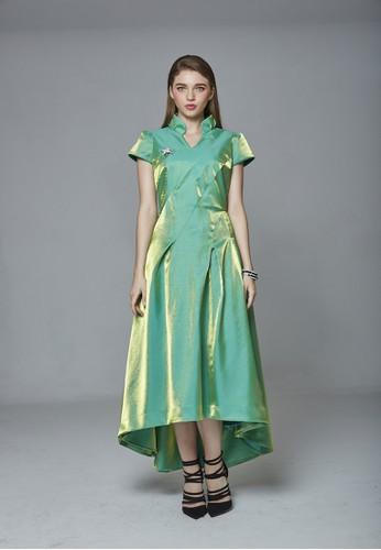 女皇中國風改良式前短後長旗袍, 服飾, 晚zalora 泳衣宴禮服
