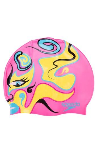 彩色印esprit 鞋花泳帽, 運動, Accessories