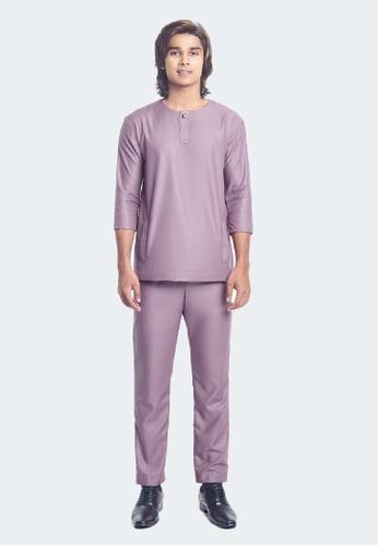 De Leuca purple De Leuca Baju Melayu Hang Jebat - Dusty Purple 87018AAF57C14DGS_1