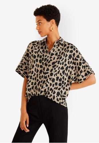Mango brown Animal Print Shirt 969CBAA98E81F3GS_1