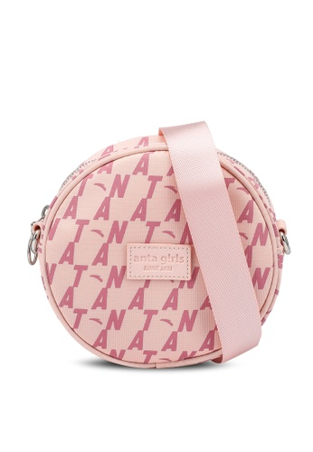 Anta pink Antagirl Satchel Bag ADFE0AC76EB1F9GS_1