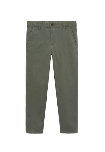 MANGO KIDS green Straight Trousers F46CEKABECD6ECGS_1