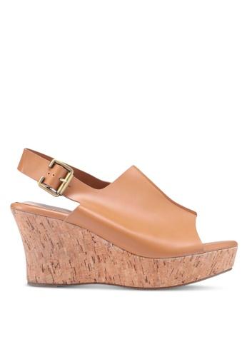 Bata 褐色 軟木楔型涼鞋 60510SH687EFEEGS_1